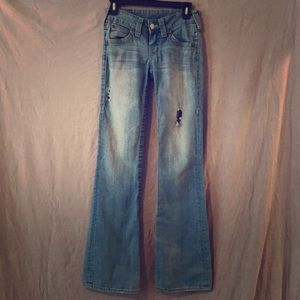 True Religion Becky flare low rise size 26 used